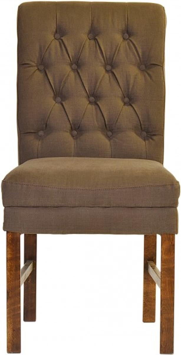 Casa padrino designer esszimmer stuhl modef 16 braun grau for Esszimmer chesterfield