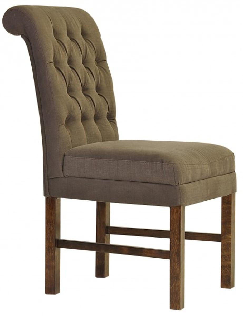 casa padrino designer esszimmer stuhl modef 16 braun grau braun hoteleinrichtung. Black Bedroom Furniture Sets. Home Design Ideas