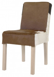 Casa Padrino designer eat room chair modef 35 Cowhide - Genuine Fur hotel furniture - beech wood