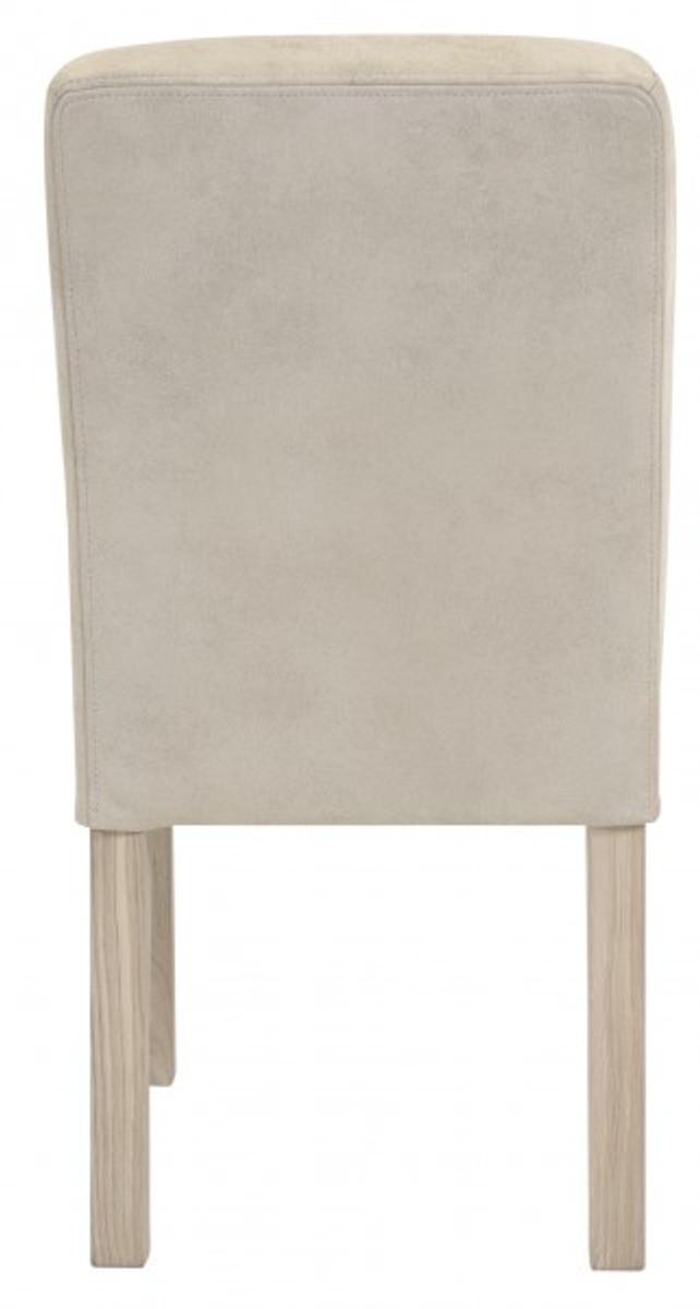 Casa Padrino Designer Esszimmer Stuhl ModEF 35 Beige Leder - Hotelmöbel - Holz Buche 4