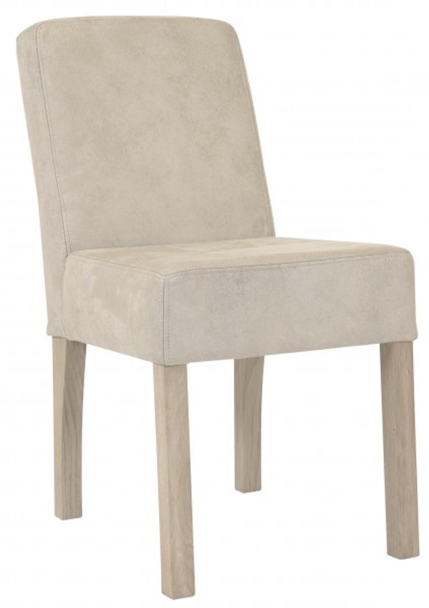 Pleasant Casa Padrino Designer Dining Room Chair Modef 35 Beige Leather Hotel Furniture Beech Machost Co Dining Chair Design Ideas Machostcouk