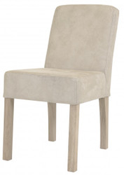 Casa Padrino designer dining room chair modef 35 Beige leather - Hotel Furniture - Beech