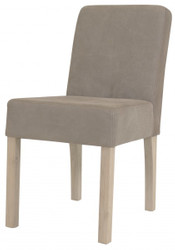 Casa Padrino designer dining room chair modef 35 Khaki Leather - Hotel Furniture - Beech
