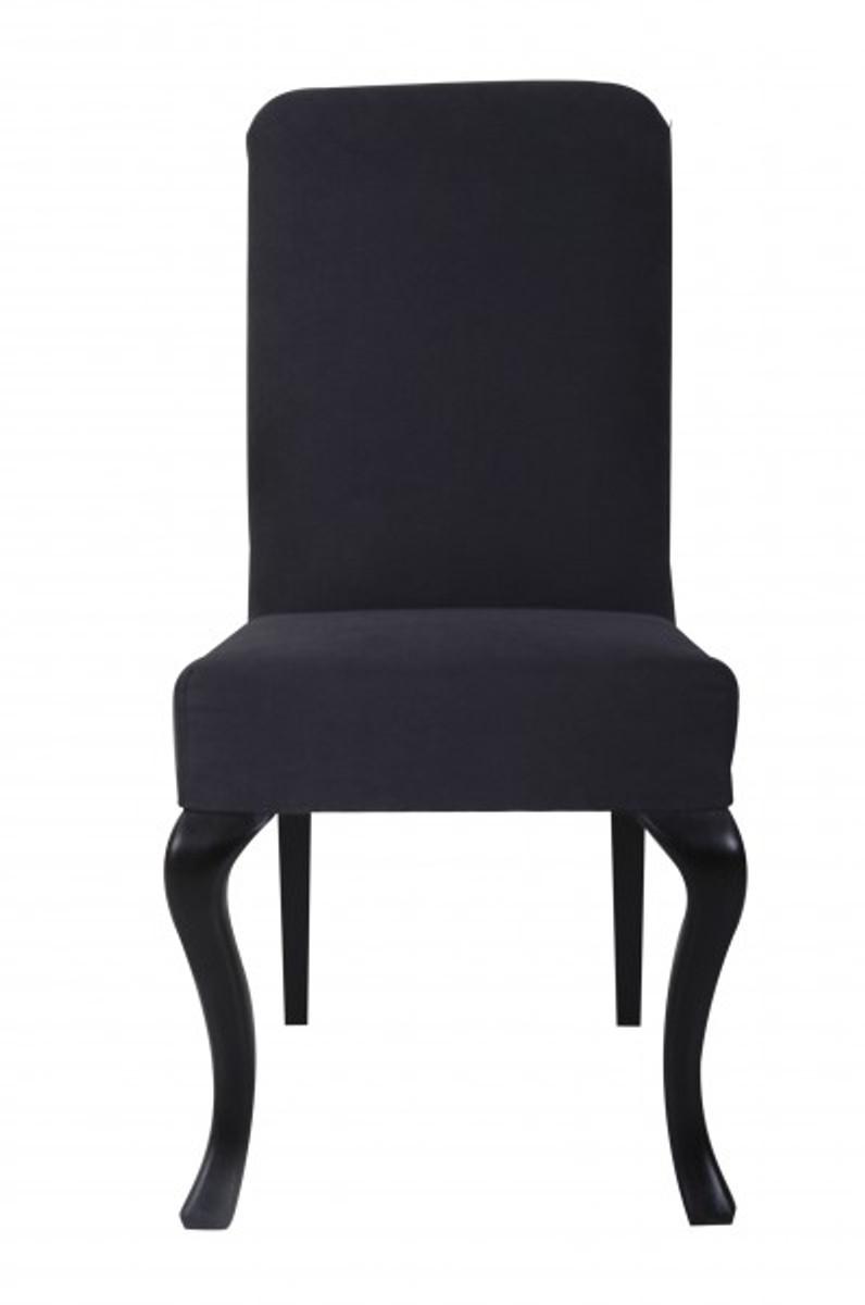 Casa Padrino Designer Barock Esszimmer Stuhl Modef 231 Schwarz
