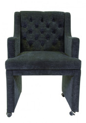 Casa Padrino Designer Dining chair / modef 310 Dark Grey - Hotel furniture-chair on castors