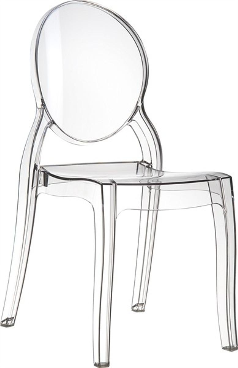 casa padrino designer stuhl elisabeth ghost chair clear. Black Bedroom Furniture Sets. Home Design Ideas