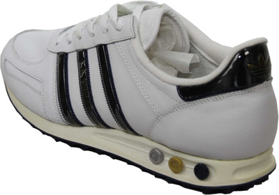 Adidas Men's Athletic Shoes La Trainer Lin-White / Navy / Gold – Bild 2