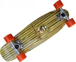 Oldschool Skateboard Pro Wood Cruiser Panama Jack Style 70s 61x 18 cm - Short Longboard