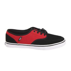 ClassX Vox Skateboard Shoes Black / Red / White – Bild 1