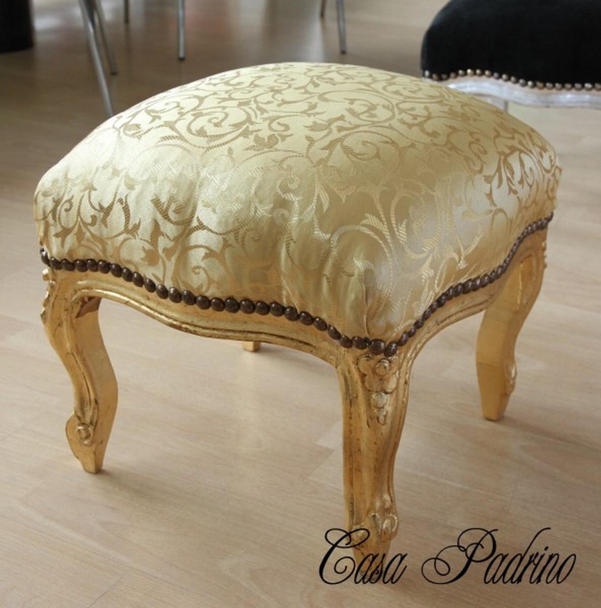 casa padrino barock fu hocker gold muster gold antik. Black Bedroom Furniture Sets. Home Design Ideas