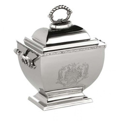 Beautiful Jewel Box in nickel-plated metal H 25 cm, W 18 cm, D 14 cm luxury quality - jewelry box