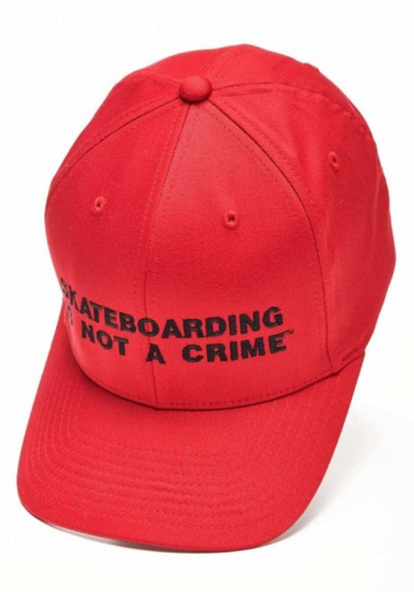 Skateboarding Is Not A Crime Skateboard Flexfit Hat Red S   M - Flex Fit  Fitted ac13c3cb3dd