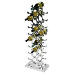 Designer wine rack for 27 bottles of polished aluminum height 103cm - Wine Racks, Bottle Holders, Wine Rack