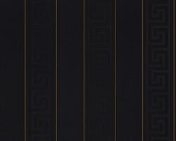 Versace Designer Barock Tapete Home Collection 935244 Jugendstil Vliestapete Vlies Tapete Nadelstreifen Schwarz