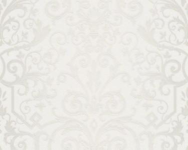 Versace Designer Barock Tapete Home Collection 935451 Jugendstil Vliestapete Vlies Tapete Grau Weiß