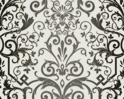 Versace Home Collection Baroque Wallpaper 935452 Art Nouveau woven wallpaper non-woven wallpaper white black baroque pattern