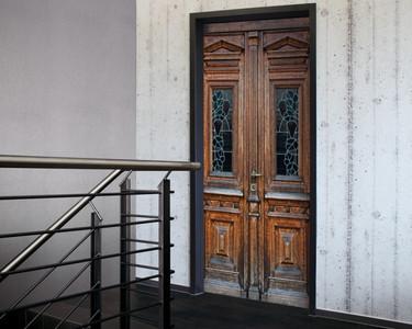 Tür 2.0 XXL Wallpaper für Türen 20009 Berlin - selbstklebend- Blickfang für Ihr zu Hause - Tür Aufkleber Tapete Fototapete FotoTür 2.0 XXL Vintage Antik Stil Retro Wallpaper Fototapete – Bild 1