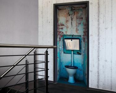 Tür 2.0 XXL Wallpaper für Türen 20024 WC - selbstklebend- Blickfang für Ihr zu Hause - Tür Aufkleber Tapete Fototapete FotoTür 2.0 XXL Vintage Antik Stil Retro Wallpaper Fototapete – Bild 1