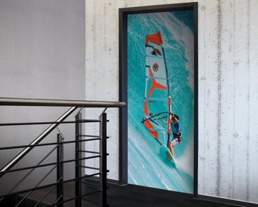 Tür 2.0 XXL Wallpaper für Türen 20026 Surfer - selbstklebend- Blickfang für Ihr zu Hause - Tür Aufkleber Tapete Fototapete FotoTür 2.0 XXL Vintage Antik Stil Retro Wallpaper Fototapete – Bild 1