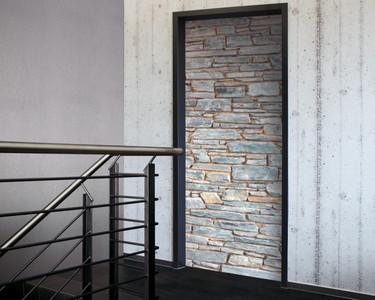Tür 2.0 XXL Wallpaper für Türen 20029 Mosel Steine Mauer - selbstklebend- Blickfang für Ihr zu Hause - Tür Aufkleber Tapete Fototapete FotoTür 2.0 XXL Vintage Antik Stil Retro Wallpaper Fototapete – Bild 1