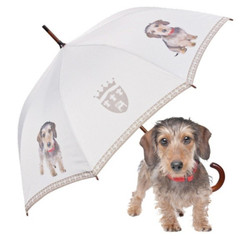 "MySchirm designer umbrella ""Wire-haired Dachshund"" - Elegant Umbrella - Luxury Design - Automatic Umbrella"