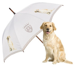 "MySchirm Designer Regenschirm ""Retriever"" - Eleganter Stockschirm - Luxus Design - Automatikschirm"
