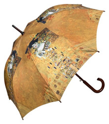"Designer umbrella motif screen Gustav Klimt ""Adele"" - Elegant Umbrella - Luxury Design - Automatic Umbrella 001"