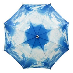 "MySchirm designer umbrella ""summer sky"" - Elegant Umbrella - Luxury Style - up-and-close system screen Bild 2"