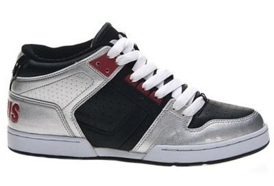 Osiris Skateboard Schuhe  South Bronx Kids  Silver Black Red – Bild 1