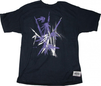 Knoxx Skateboard T-Shirt Black / Purple