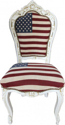Casa Padrino Baroque Dinner Chair Design USA / Cream