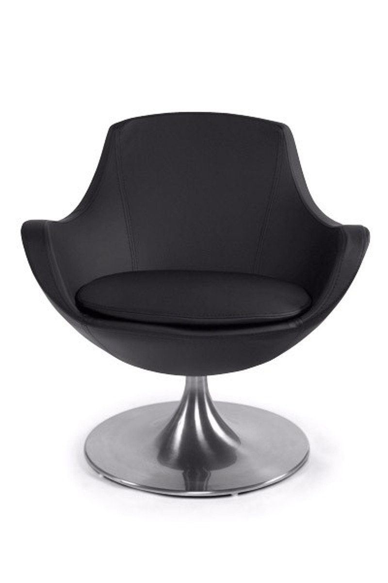 Lounge sessel drehbar  Casa Padrino Designer Sessel Schwarz - Lounge Sessel - Büro Sessel ...