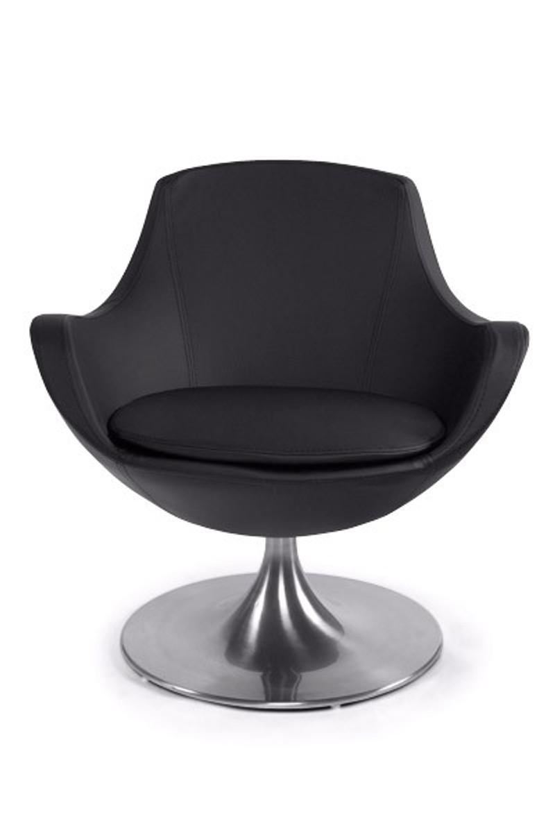 Lounge sessel schwarz weiß  Casa Padrino Designer Sessel Schwarz - Lounge Sessel - Büro Sessel ...