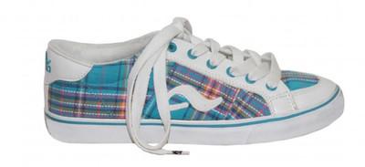 Adio Skateboard Shoes Daily Girls White/Light Blue – Bild 1