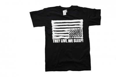 They Live We Sleep    Skateboard T-Shirt   Black/white