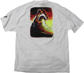 NHS    Skateboard T-Shirt  White/Wave – Bild 2