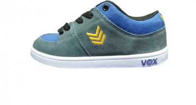 Vox  Skateboard Schuhe Passport Kids Charcoal Blue Yellow – Bild 1