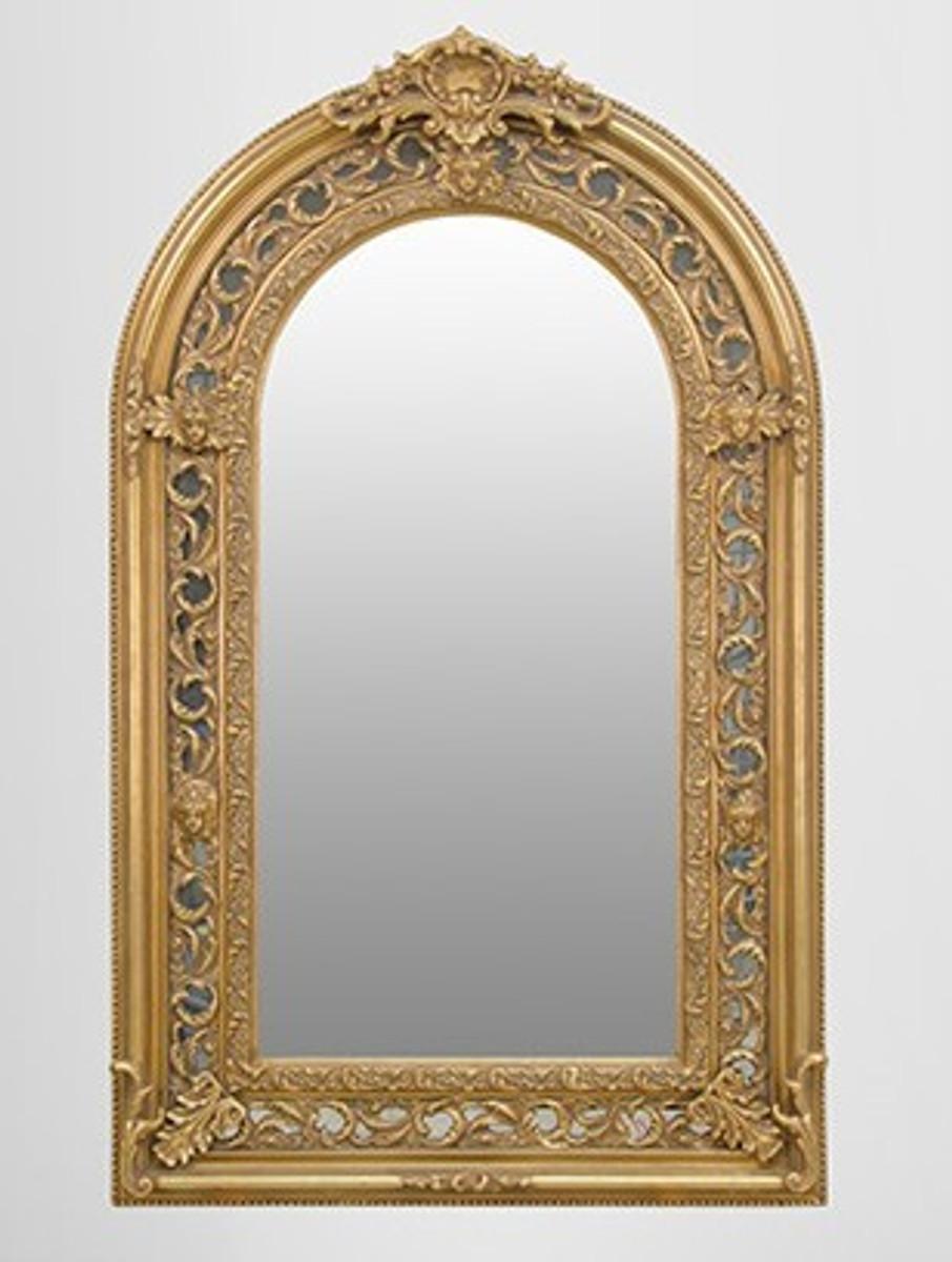 gro er prunkvoller barock spiegel halbrund gold 185 x 110 cm spiegel barock spiegel barock. Black Bedroom Furniture Sets. Home Design Ideas