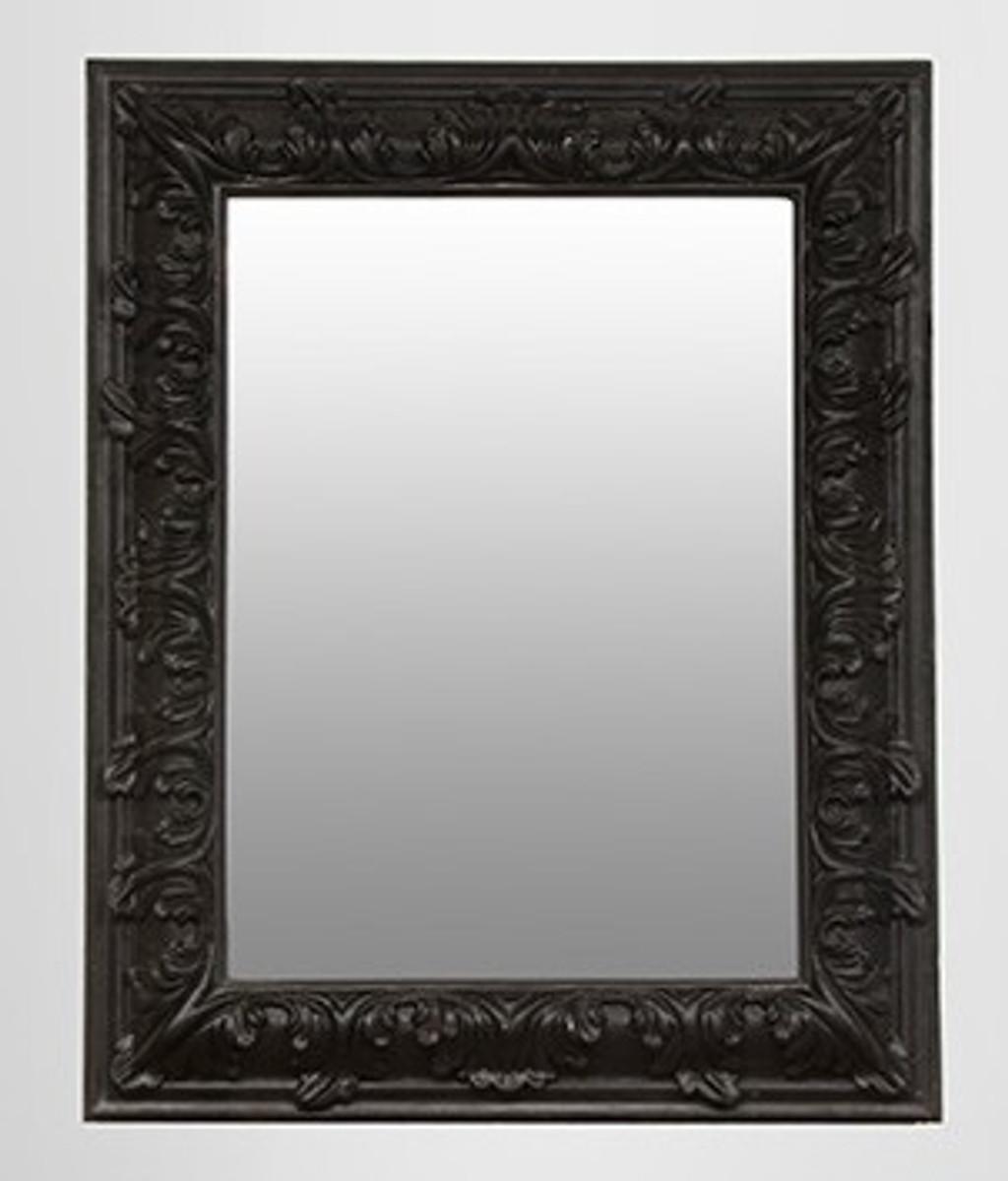 Pomp ser barock spiegel rechteckig schwarz 157 x 124 cm spiegel barock spiegel barock wandspiegel - Barock spiegel schwarz ...