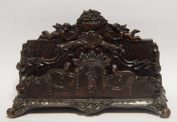 Luxurious antique style letter rack made ​​of polyresin length about 28 cm