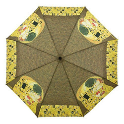 "Designer umbrella motif screen Gustav Klimt ""The Kiss"" - Elegant Umbrella - Luxury Design - Automatic Umbrella Bild 2"