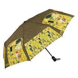 "MySchirm designer umbrella Gustav Klimt ""The Kiss"" - Elegant Umbrella - Luxury Design"