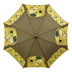 "MySchirm designer umbrella Gustav Klimt ""The Kiss"" - Elegant Umbrella - Luxury Design Bild 2"