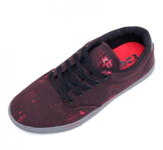 Globe Skateboard Schuhe Lighthouse Slim Black/Red Bleed