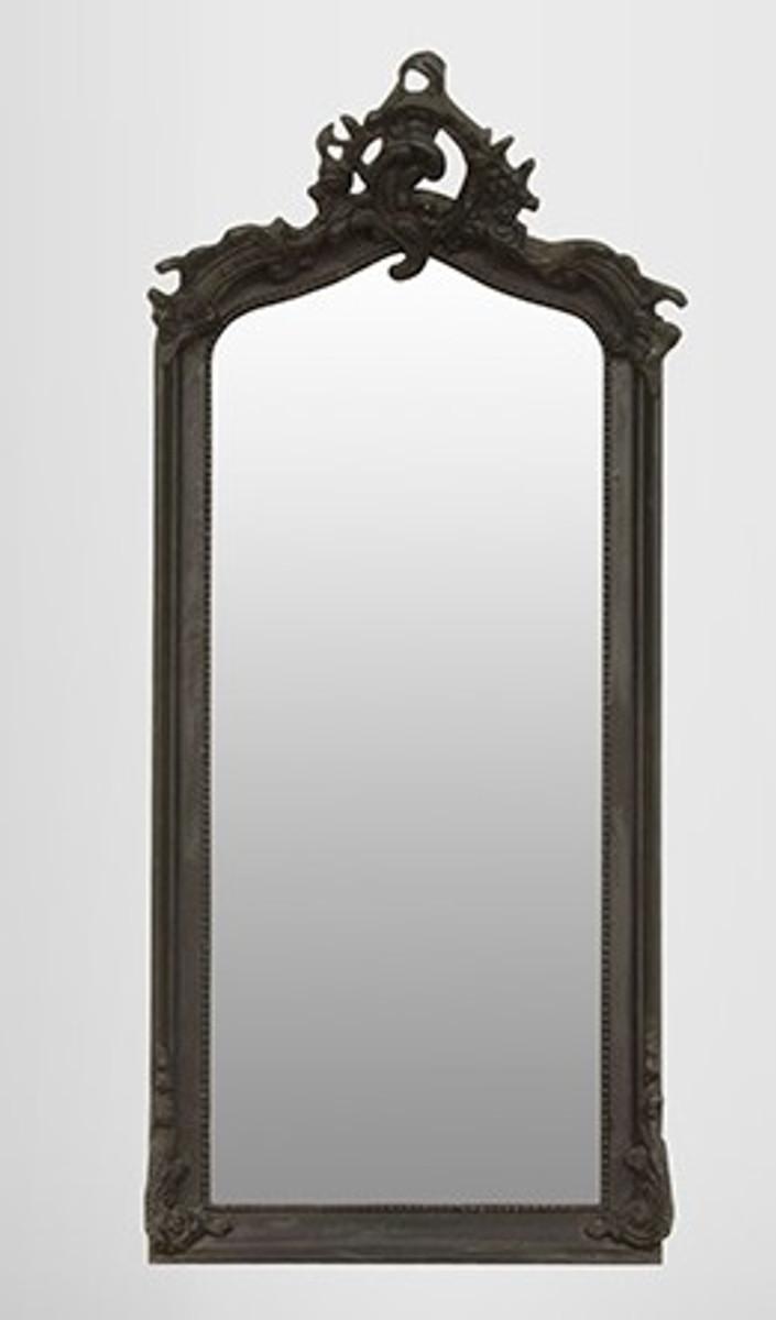 casa padrino barock spiegel schwarz 115 x 48 cm spiegel barock spiegel barock wandspiegel. Black Bedroom Furniture Sets. Home Design Ideas