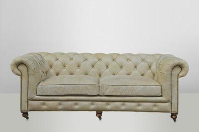 Chesterfield luxus echt leder sofa 2 5 seater vintage leder von casa padrino galata sawia sofas Sofa echt leder