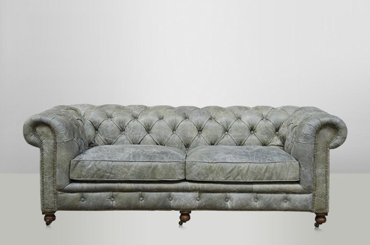 chesterfield luxus echt leder sofa 2 5 seater vintage leder von casa padrino galata verde sofas. Black Bedroom Furniture Sets. Home Design Ideas