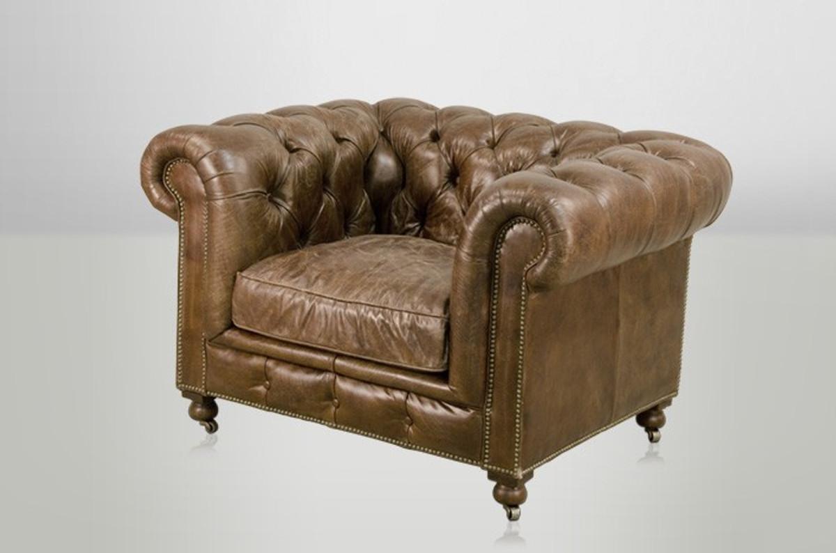 chesterfield luxus echt leder sessel vintage leder von casa padrino cigar club sessel sessel. Black Bedroom Furniture Sets. Home Design Ideas