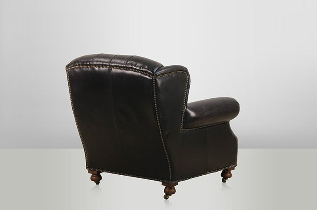 Ohrensessel modern  Chesterfield Luxus Echt Leder Ohrensessel Adringley Vintage Leder ...