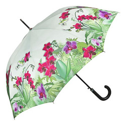 Designer umbrella umbrella design with delicate orchid flower Elegant Umbrella - Luxury Design - Automatic Umbrella